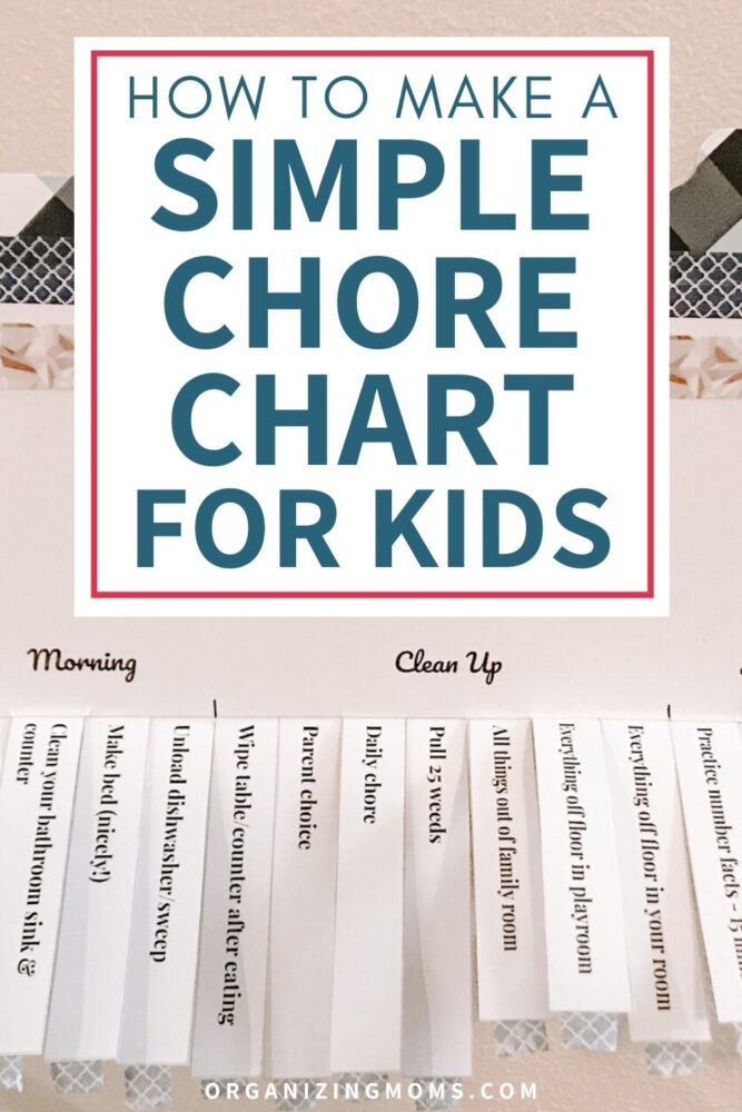how to make a simple chore chart for kids