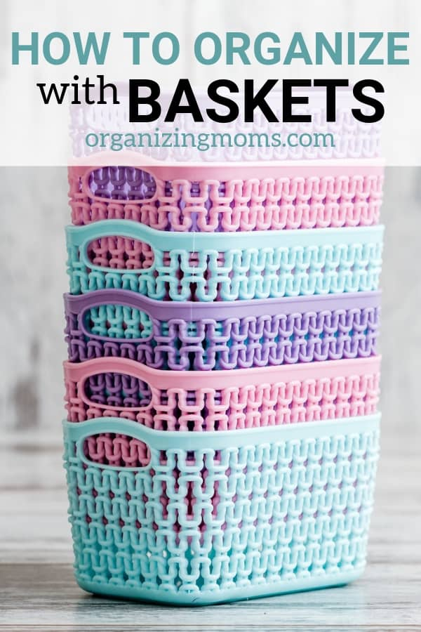Organizing with baskets is the perfect way to contain clutter, categorize, organize, and beautify your home. Learn about all of the different ways you can organize with baskets.