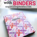 Ideas for organizing with binders. Organize all of your important paperwork with binders and ditch your file cabinet!