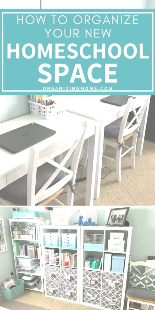 how to organize your homeschool space