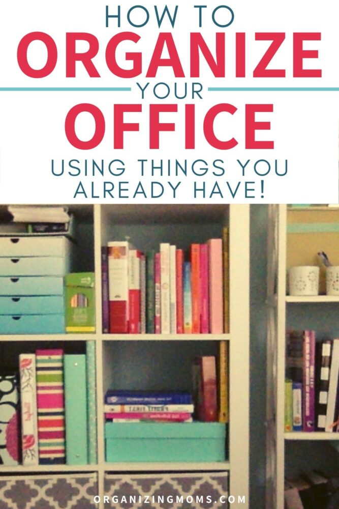 how to organize your office using things you already have cube shelf