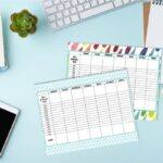 how to plan your week printables on blue desk