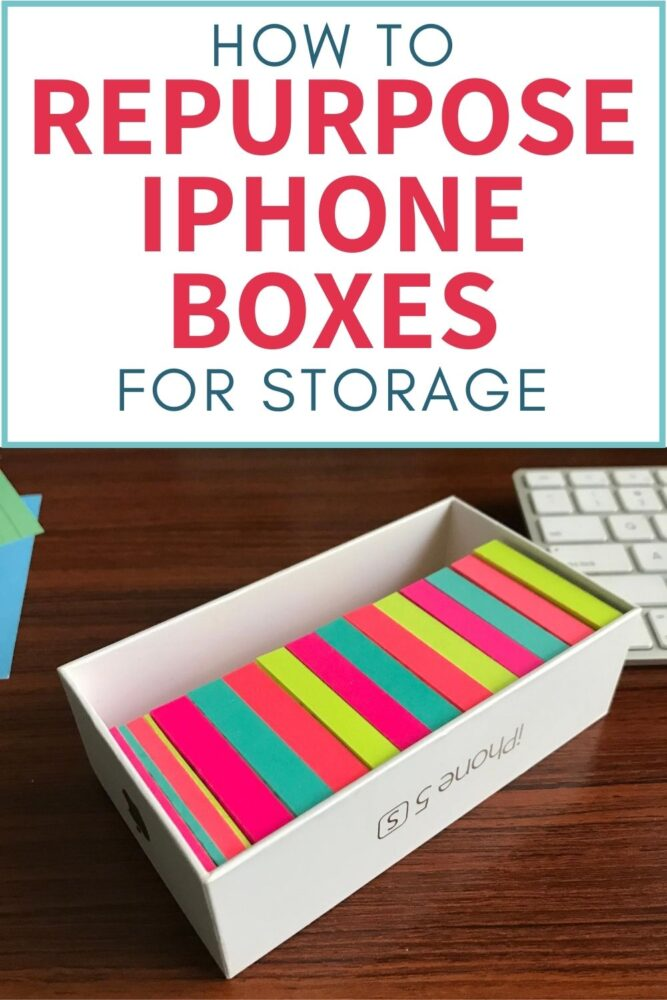 how to repurpose iphone boxes for storage