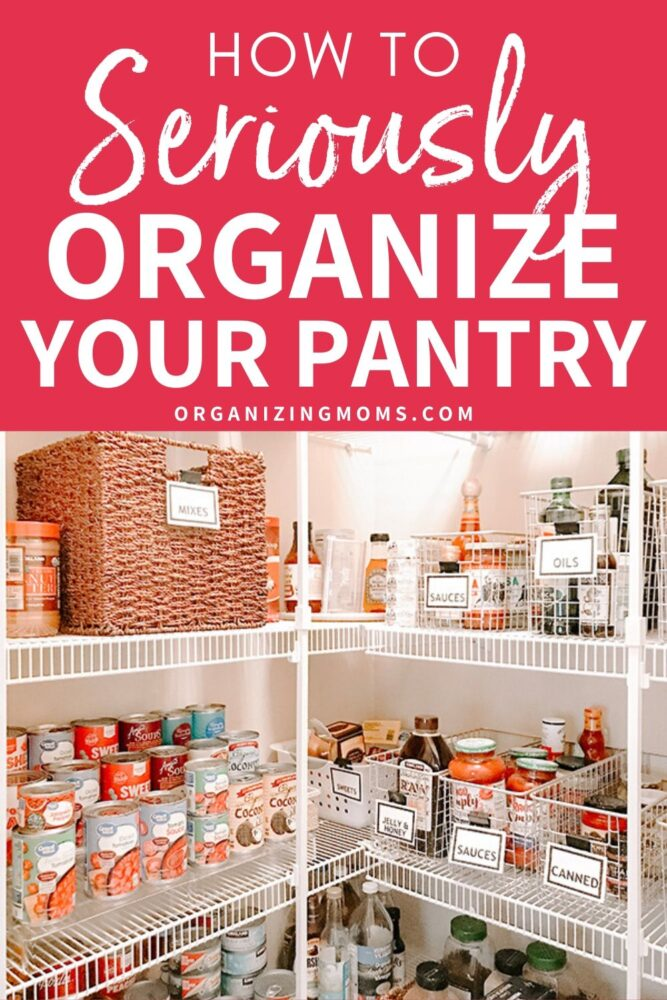 how to seriously organize your pantry
