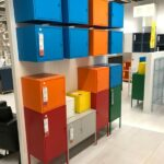 Colorful storage at IKEA