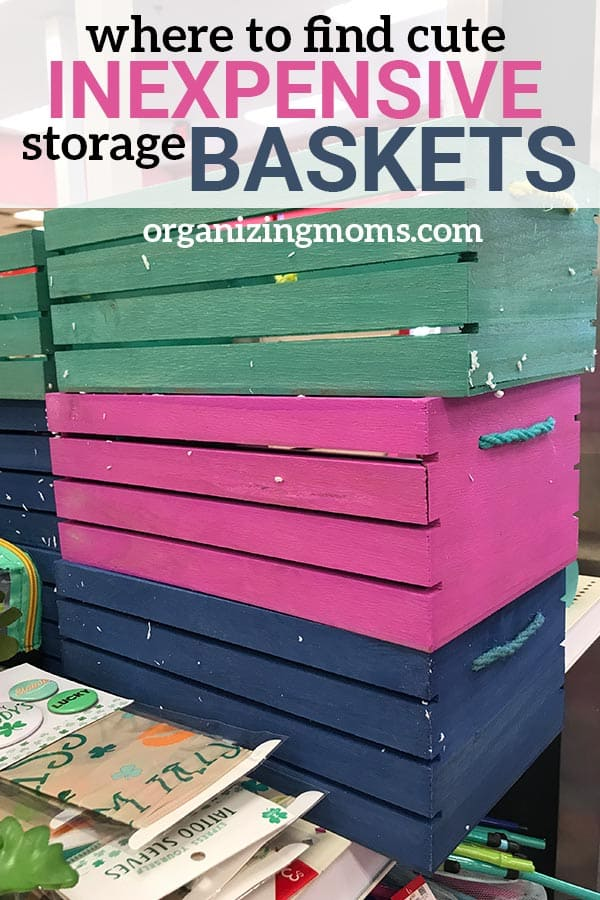 Where to get inexpensive storage baskets. Cute, versatile options you can use to organize your home. Organizing with baskets is a great way to combat clutter and decorate your space.