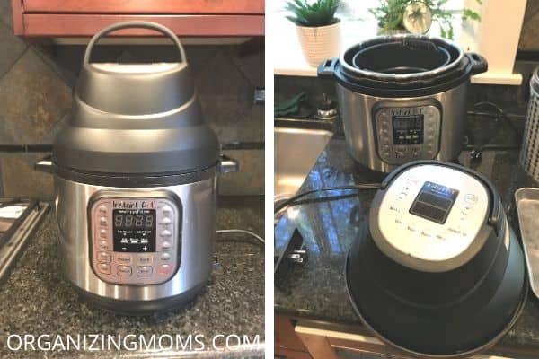 instant pot with an air fryer lid