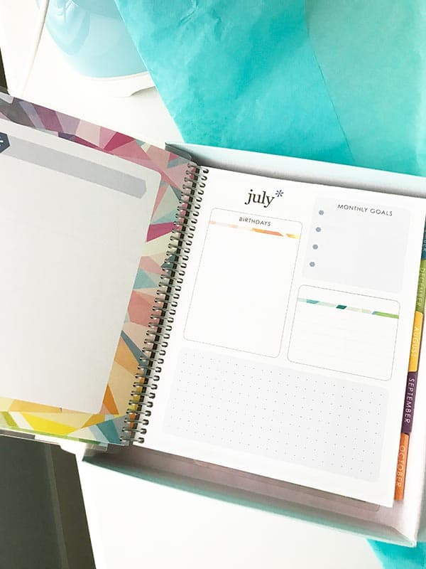 planner starts in july