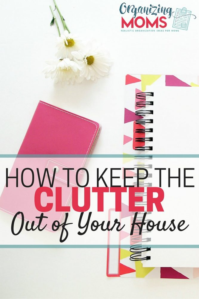 How to keep the clutter out of your home. How to stop the inflow of stuff so you can keep your space decluttered and peaceful.