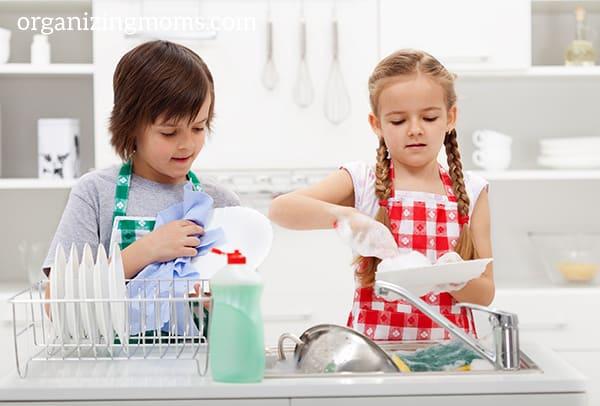 kids doing chores