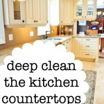 How to deep clean the kitchen countertops without making a huge mess.