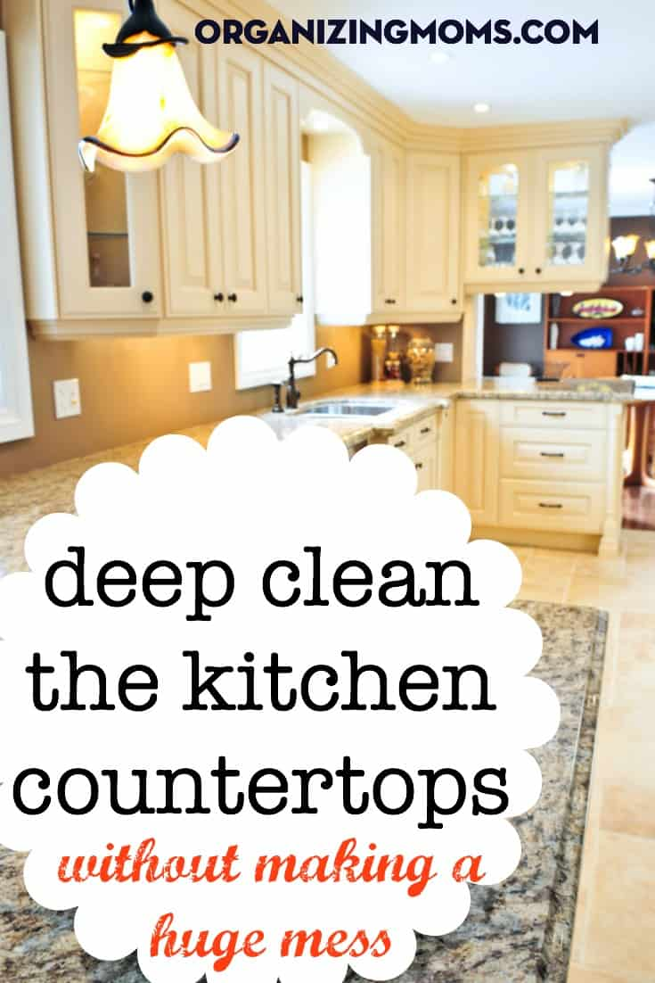 Deep Clean the Countertops Without Making a Huge Mess