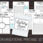 laundry room organizational printable set