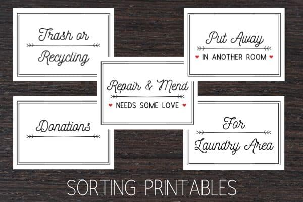 laundry room sorting printables