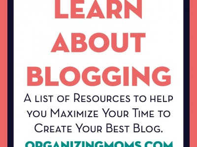Resources created by parents to help you learn how to build a profitable blog.