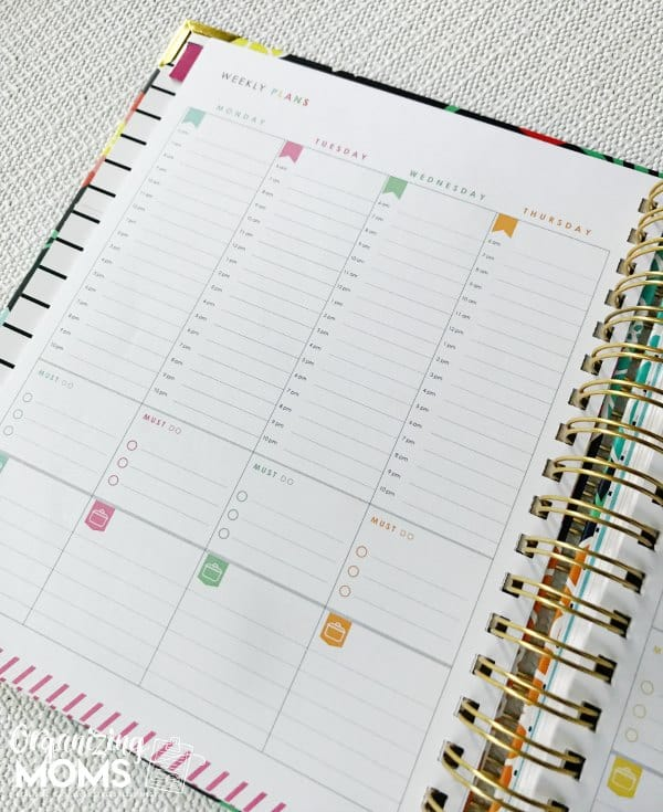 Weekly plans in the Living Well Planner