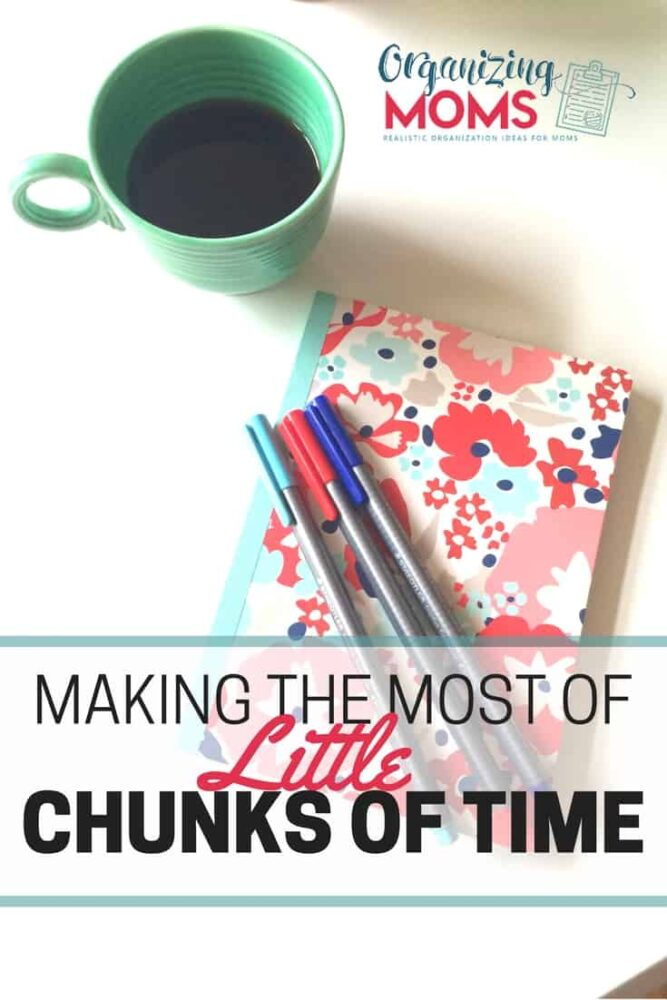 By using the extra little chunks of time in your day, you can get a lot done! Here's some ideas and strategies to get you started.