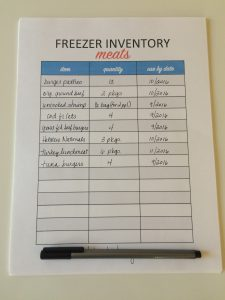 Writing out my freezer inventory on a pretty printable made the whole freezer organization process a little more fun.