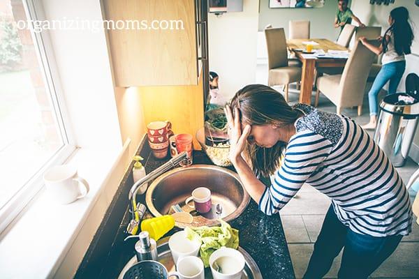 messy kitchen overwhelm