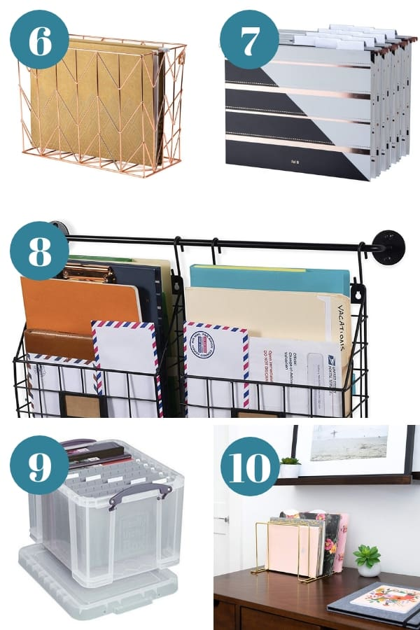 filing baskets for paperwork organization