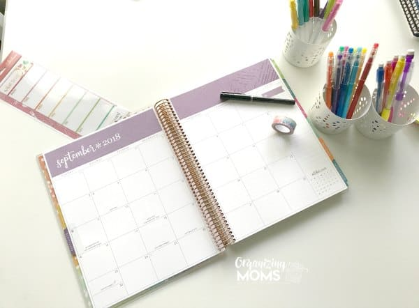 Full-size Erin Condren Deluxe Monthly Planner includes a lot of space for filling in important plans and dates.