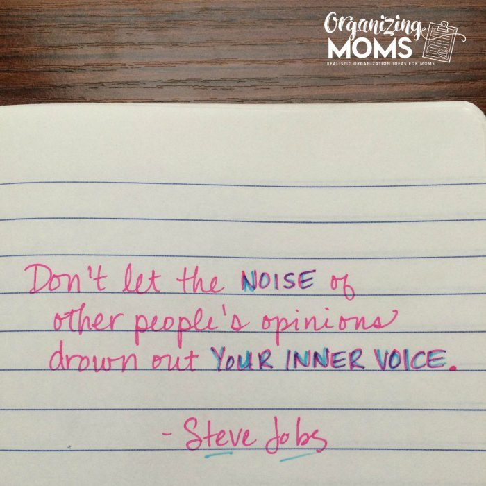 Don't let the noise of other people's opinions drown out your inner voice. - Steve Jobs