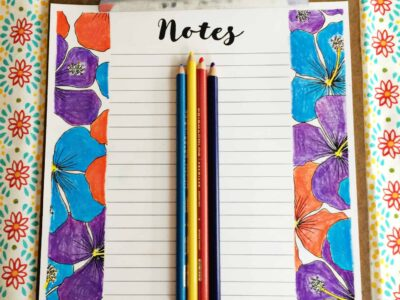 Coloring Planner Sheets collection from Organizing Moms. Notes sheet colored in. Planner sheets you can make your own!