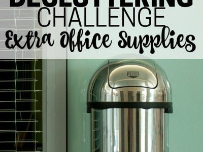 Declutter extra office supplies. Part of the Get Rid of It! Decluttering Challenge.