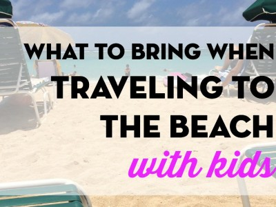 Organizing Stuff For Your Trip To The Beach With Kids