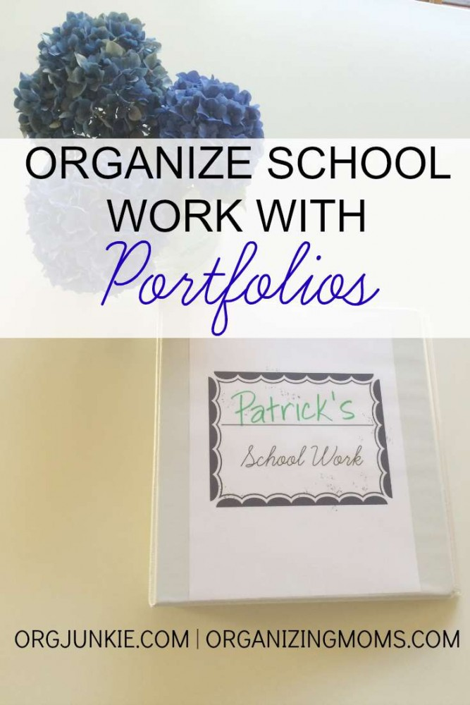 School Work Portfolios are a great way to organize your child's school papers. It also allows them to easily see how they've grown over time.