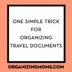 Simple Trick for Organizing Travel Documents