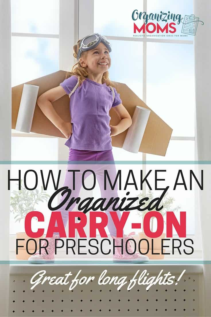 An Organized Carry-On for Preschoolers