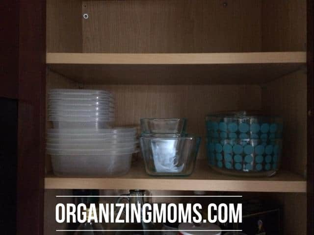 Leftover storage containers on bottom shelf & Organizing Food Storage Containers - Organizing Moms