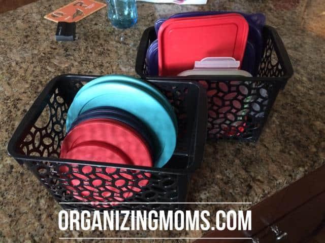 Organized storage container lids
