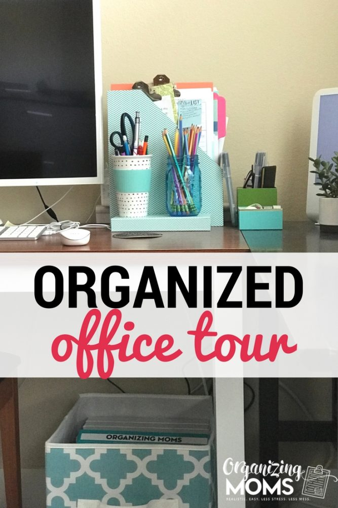 Organized Office Tour. Before and After Office Decluttering Pictures. GTD Office.