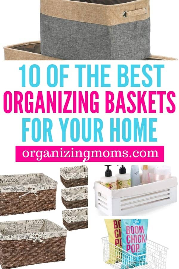 Organizing baskets for your entire home. Cute ways to use baskets to organize each room in your house.