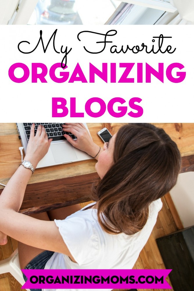 A list of positive, encouraging blogs about organizing. Be inspired by these organizing blogs!