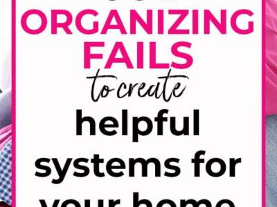 organizing fails