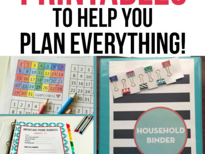organizing printables to help you plan