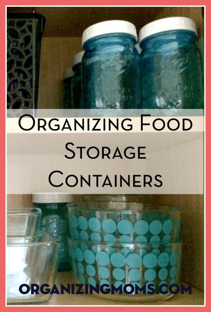 Organizing Food Storage Containers. Step-by-step pictures, and link to super-helpful tutorial.