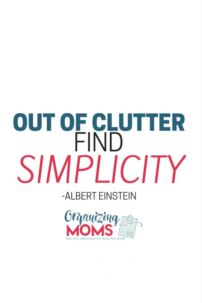 Out of clutter find simplicity. - Albert Einstein