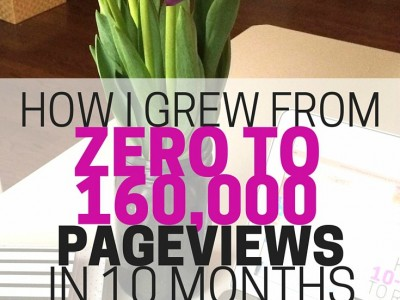 How to grow your monthly pageviews. See what I did to grow my brand-new blog's pageviews from zero to over 160,000 in just 10 months.
