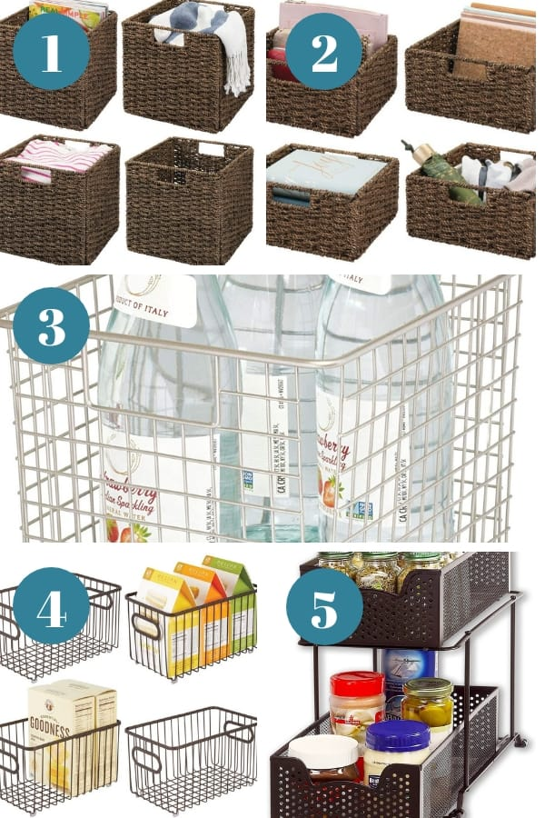 Images of first five baskets recommended in this post.