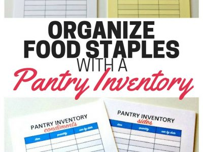 How to do a pantry inventory and organize all of your food staples.