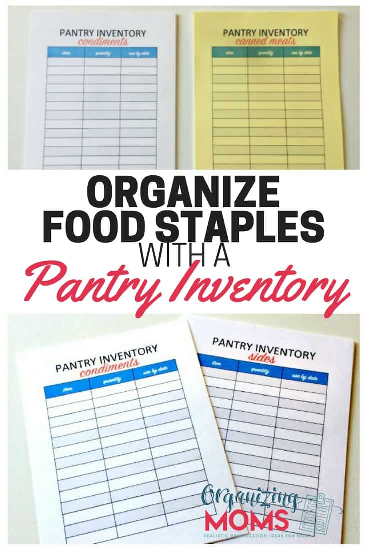 Organize Food Staples With A Pantry Inventory