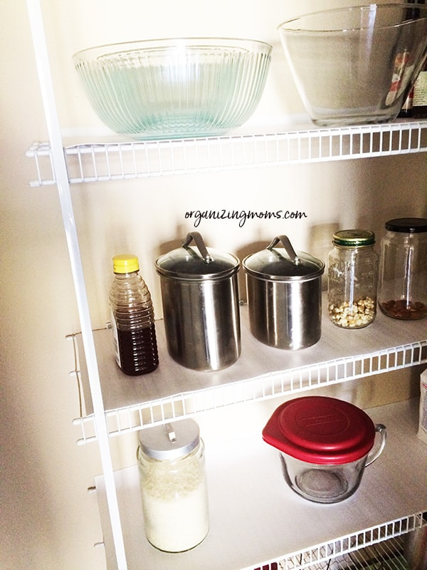 pantry with cover wire shelving