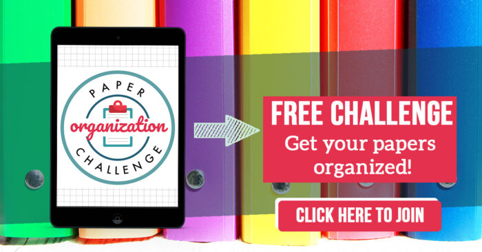 paper organization challenge sign up click here