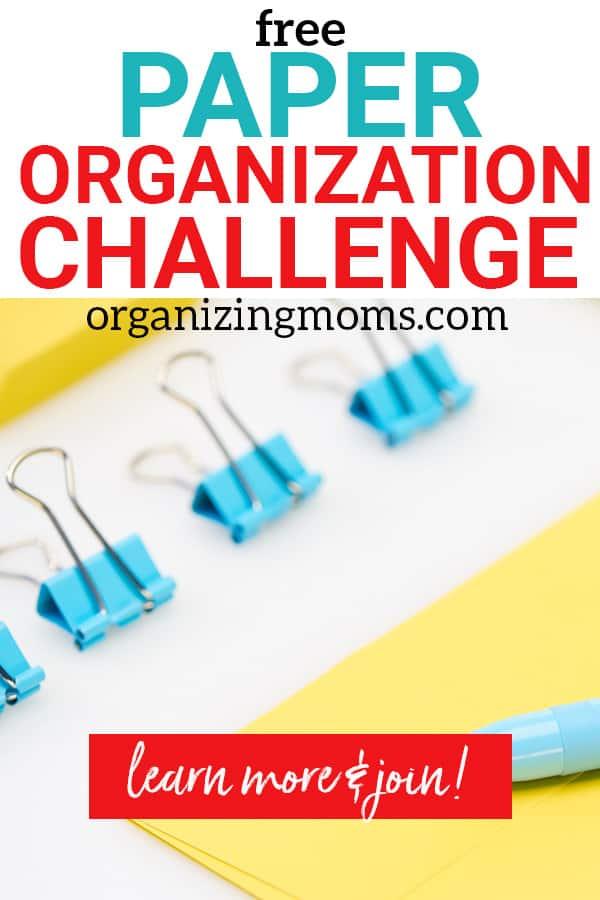 paper organization challenge