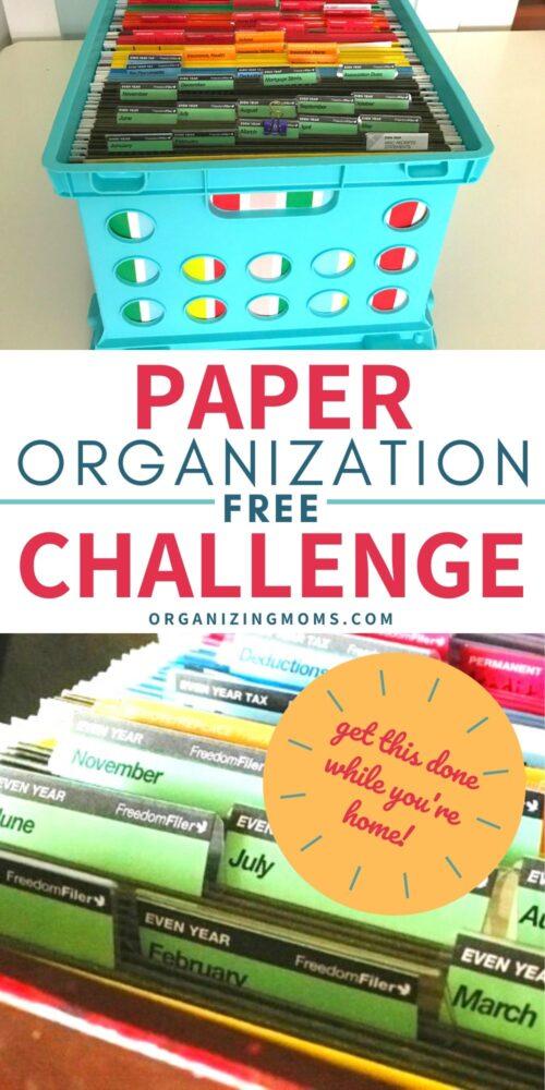 organized files paper organization challenge