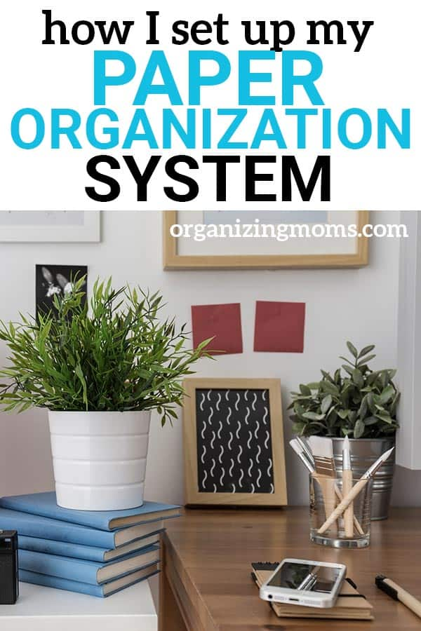 Inside my paper organization system